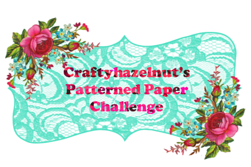 Crafty Hazelnuts Patterned Paper Challenge