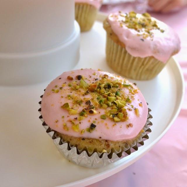 Pistachio Rosewater Cupcakes