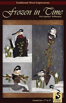 "Frozen in Time Wool Applique Wallhanging 17"" x 23"""