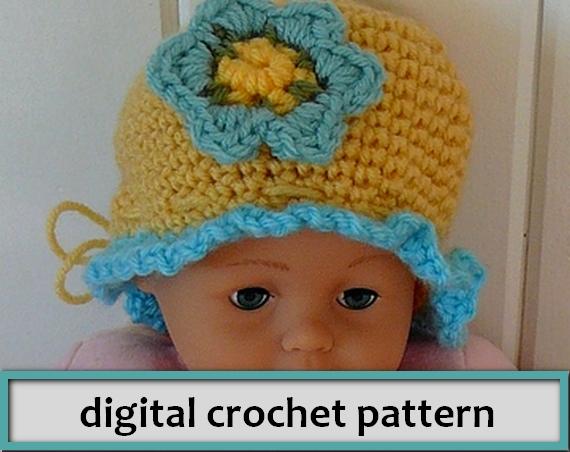 PATTERN: Baby Ruffle Hat