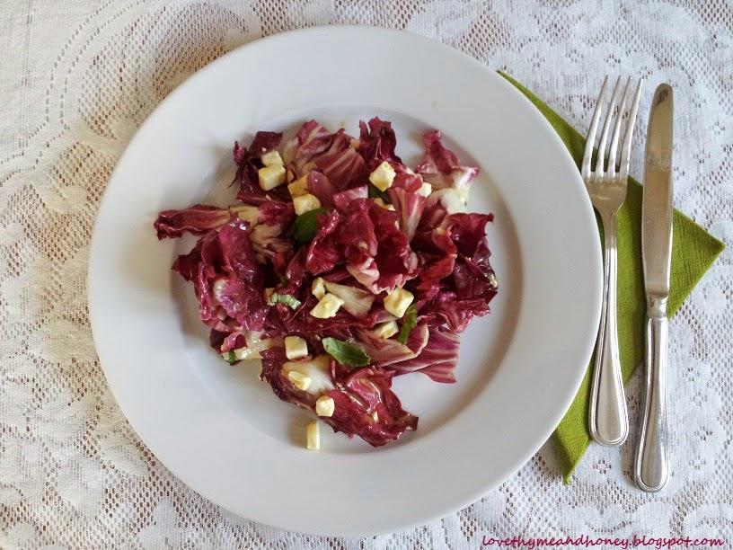 radicchio and feta salad