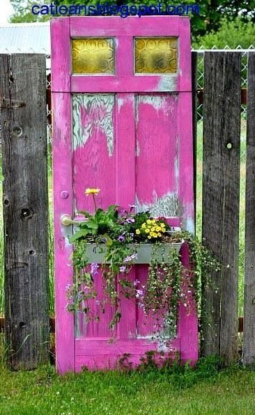 Dishfunctional designs new looks for old salvaged doors for Idea for old doors