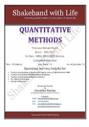 Quantitative Method Feb. 2012, Previous Solved Paper MBA Ist Sem. MDU,