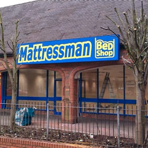 Outside view of new mattressman bed shop
