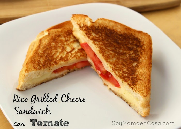 rico grilled cheese con tomate