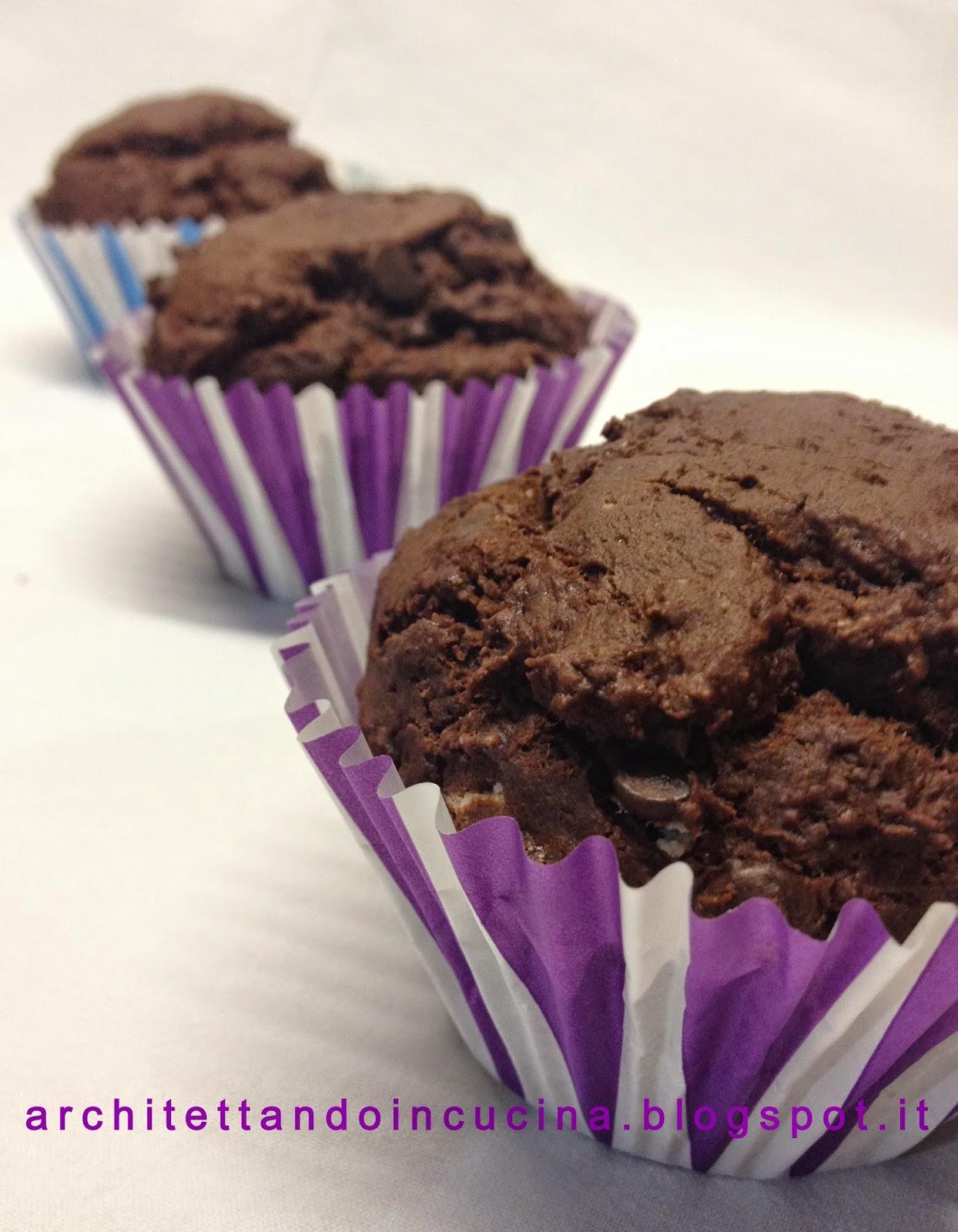 muffin al triplo cioccolato gluten free