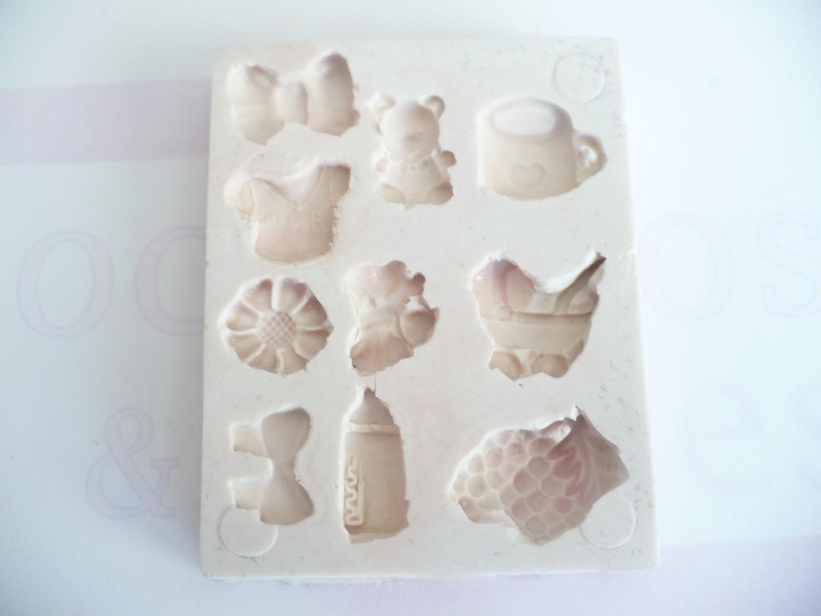 moldes de caucho silicon para adornar bocaditos o dulces de baby