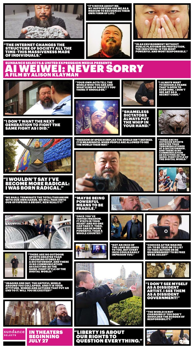 Ai Weiwei - Frases - Never Sorry - Poster