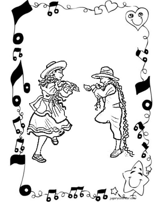 DANZA FOLKLORICA Colouring Pages
