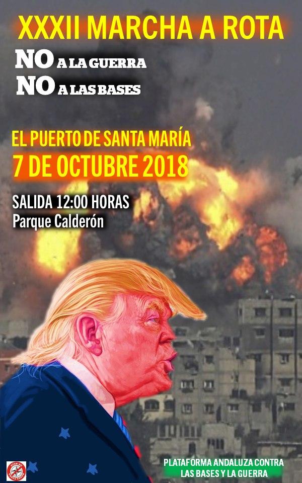MARCHA A ROTA 2018. NO A LA GUERRA. NO A LAS BASES.