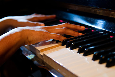 A Photograph of a Pianist's hands