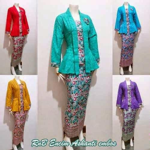 Baju Bluose Batik Setelan Rok Panjang  Baju Batik Modern Dan Terbaru