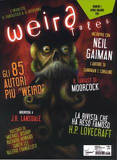 Weird Tales Italia #1, aprile/maggio 2011, copertina