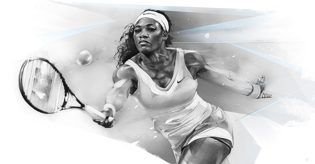 07-Serena-Williams-Alexis-Marcou-Traditional-and-Digital-Celebrity-Drawings-www-designstack-co