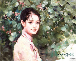 Chicas y Paisajes de China en el Arte al Oleo