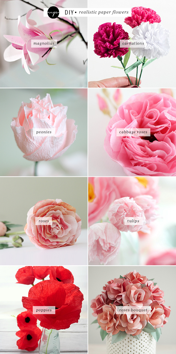 diy realistic paper flowers my paradissi