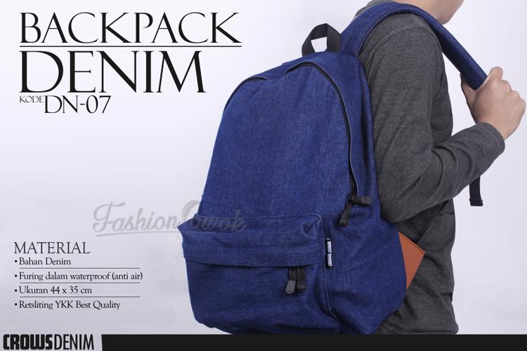 FASHION COWOK | Toko Jaket Online | Jaket Crows Zero | Jaket Korean Style | jual murah tas punggung Denim Backpack DN07 | Jaket National Geographic
