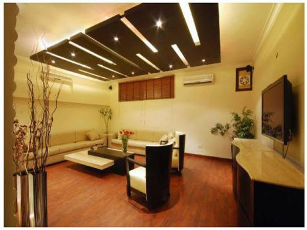 modern false ceiling for living room interior design 2014
