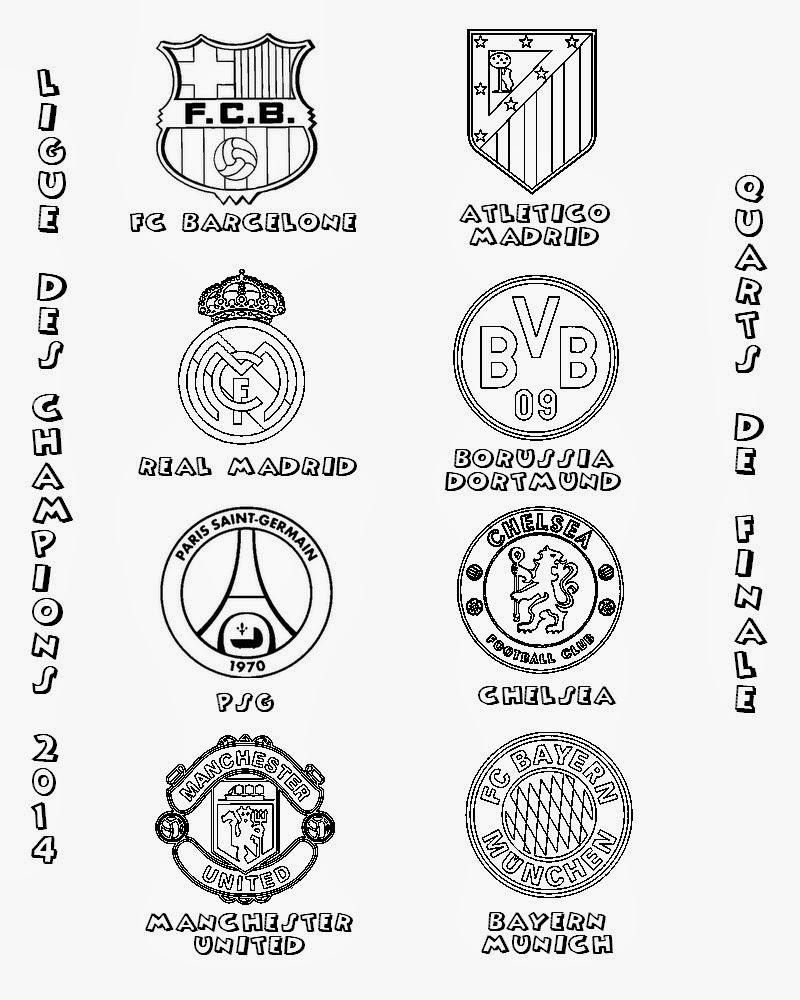 2 clubs allemands Bayern Munich Borussia Dortmund 2 clubs anglais Chelsea Manchester United et un club Fran§ais PSG vont se rencontrer lors des