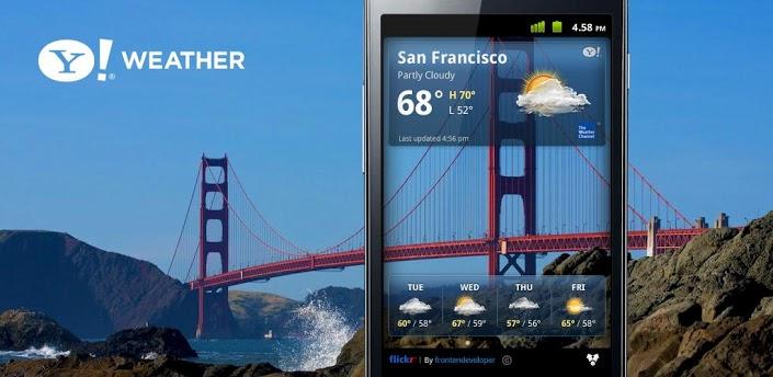 Yahoo hava durumu bulunduğunuz yere ait ve oradaki hava durumunu