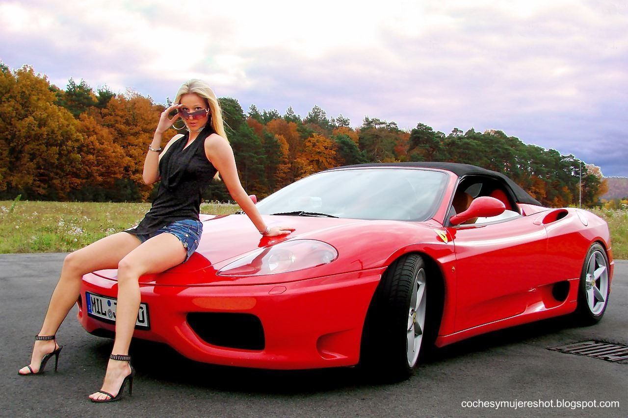 Coches Y Mujeres Resoluci N Hd Chicas Posando En Ferrari