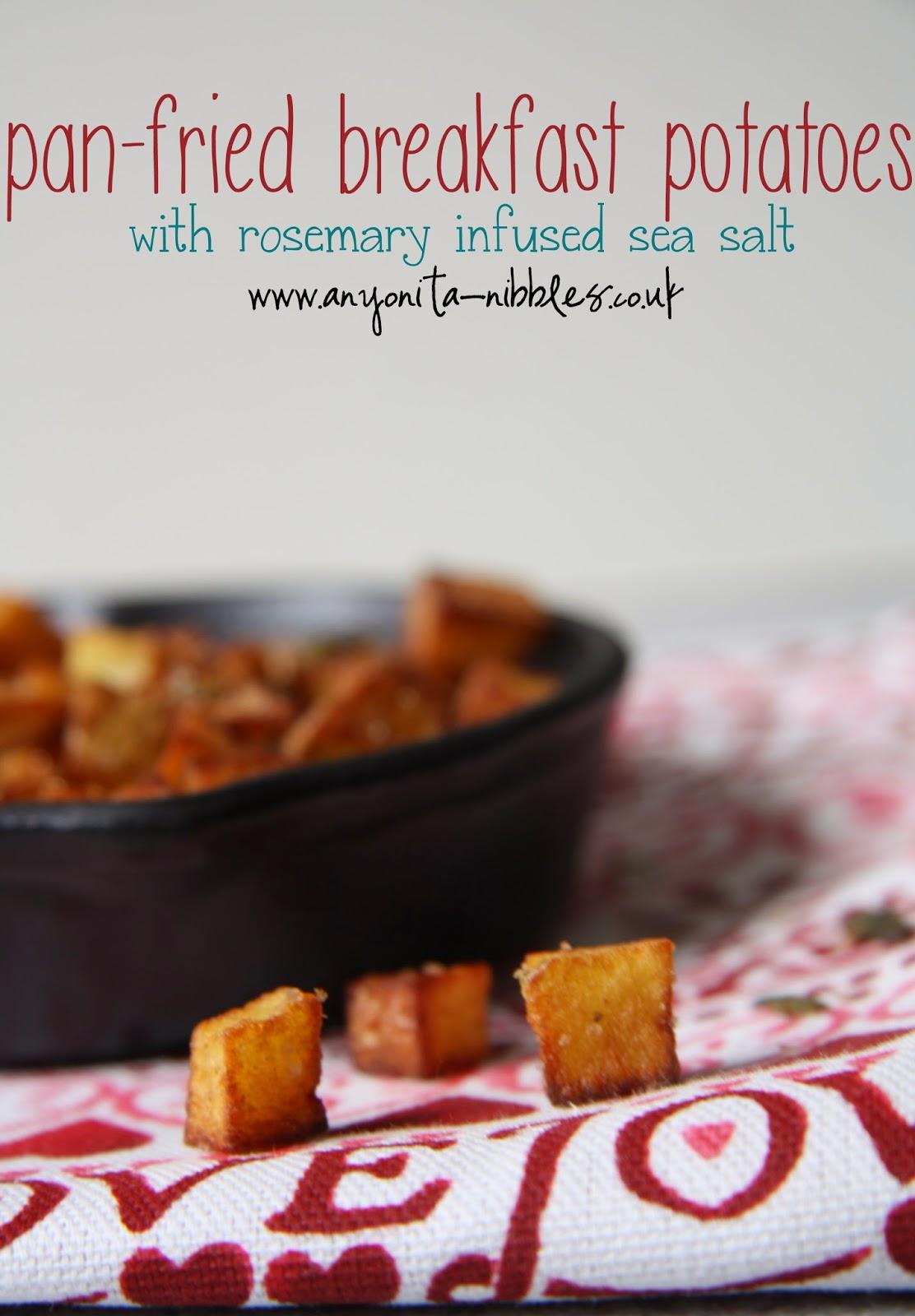 Golden pan fried #breakfast potatoes from Anyonita Nibbles #glutenfree #vegan #vegetarian