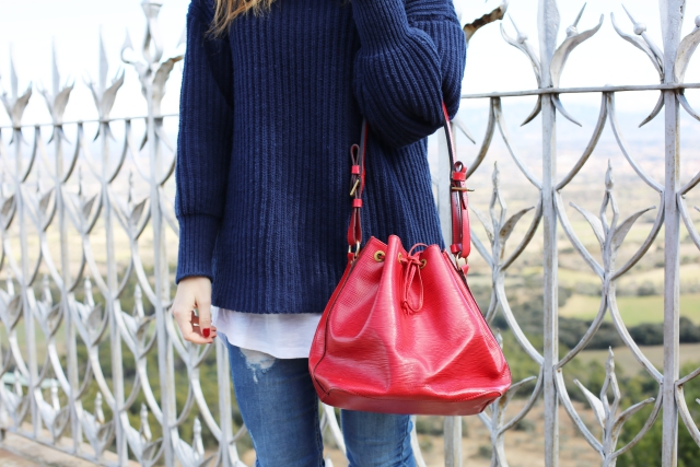 Bolso Rojo Louis Vuitton