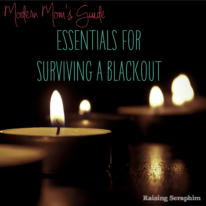 Guide to surviving during a blackout due to a storm or anything else. Helpful for those moms and dads who rely on power, running water, etc. Especially helpful for families with young kids.