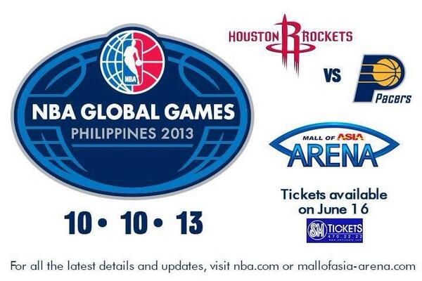 nba global games philippines 2013 houston vs pacers