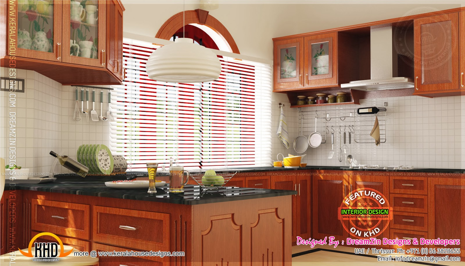 Interior designs by dreamzin designs uae and kerala for Modern kitchen designs in kerala