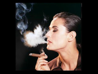 Demi Moore Smoking