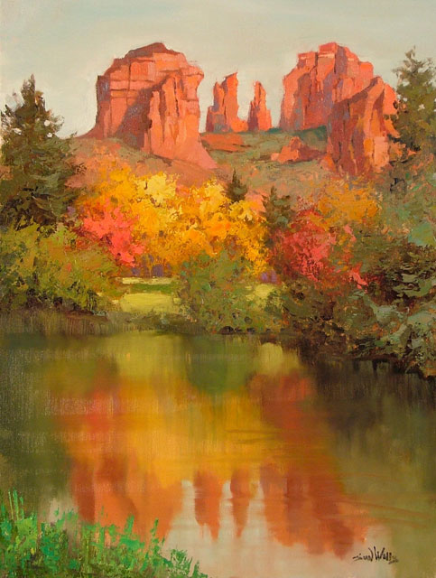 Sean Wallis landscape oil paintings