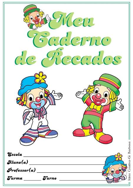 Capas Coloridas para Caderno Patati e Patatá