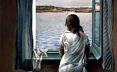 muchacha en la ventana