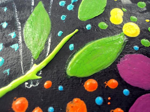 gouache painted leaf