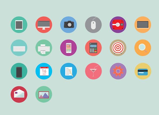 Ücretsiz Flat ikonlar AI