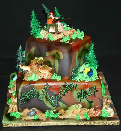 Hunting Birthday Cake Decorations