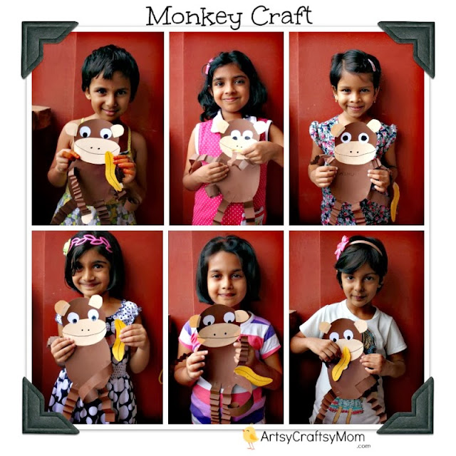 paper monkey craft