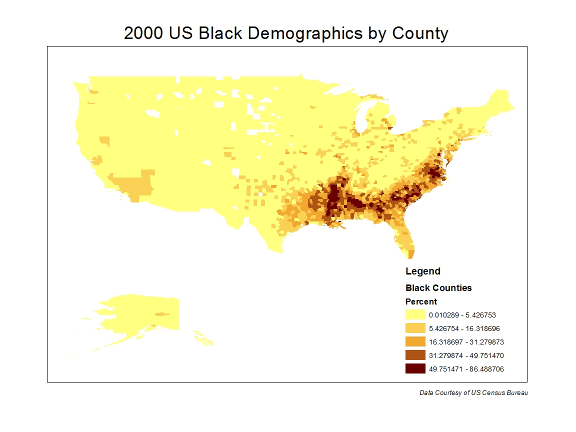 i expected to see much higher populations of african american across the map growing up in oakland and then attending
