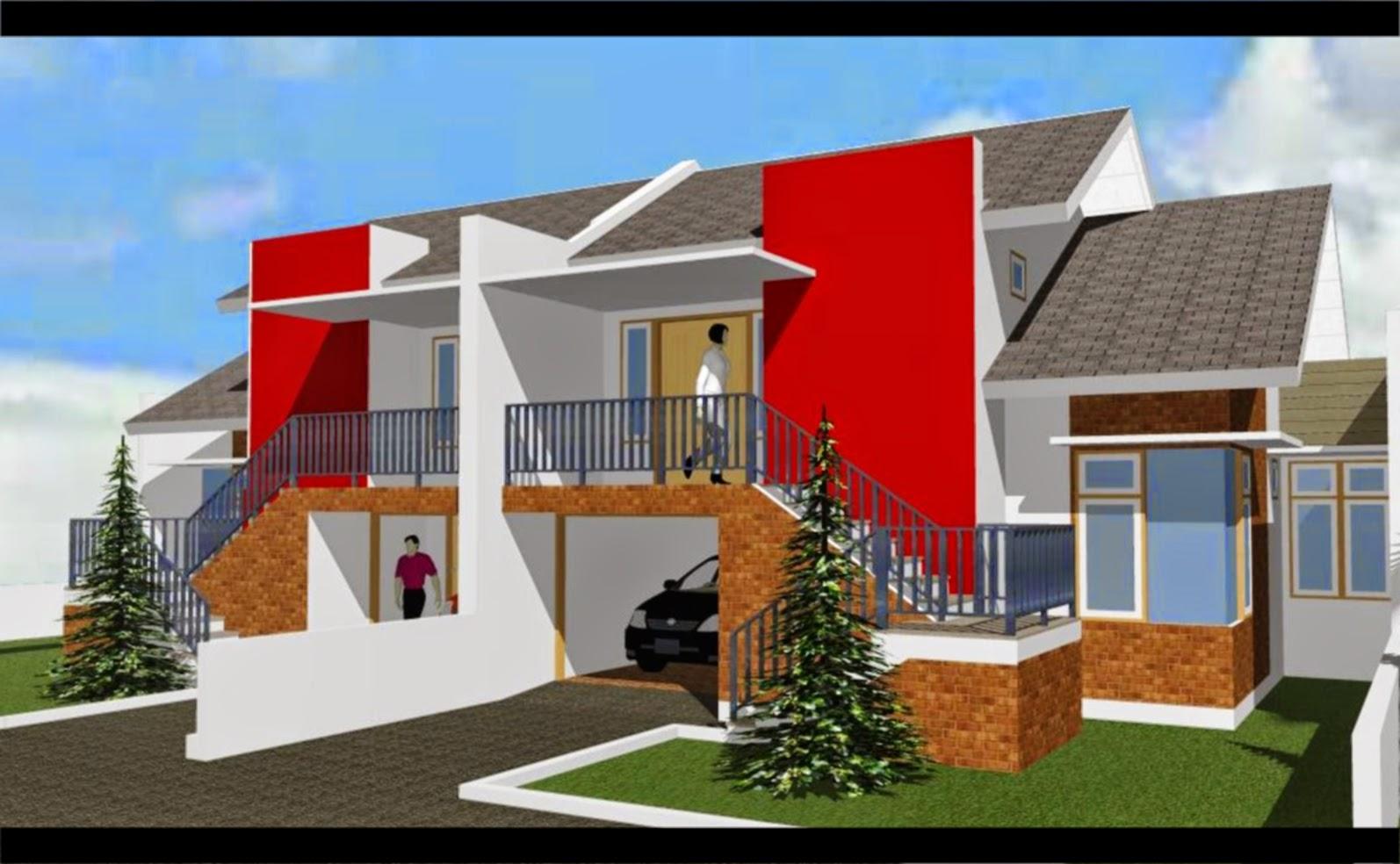 Warna Cat Merah Rumah Minimalis Tampak Depan Dshdesign4kinfo