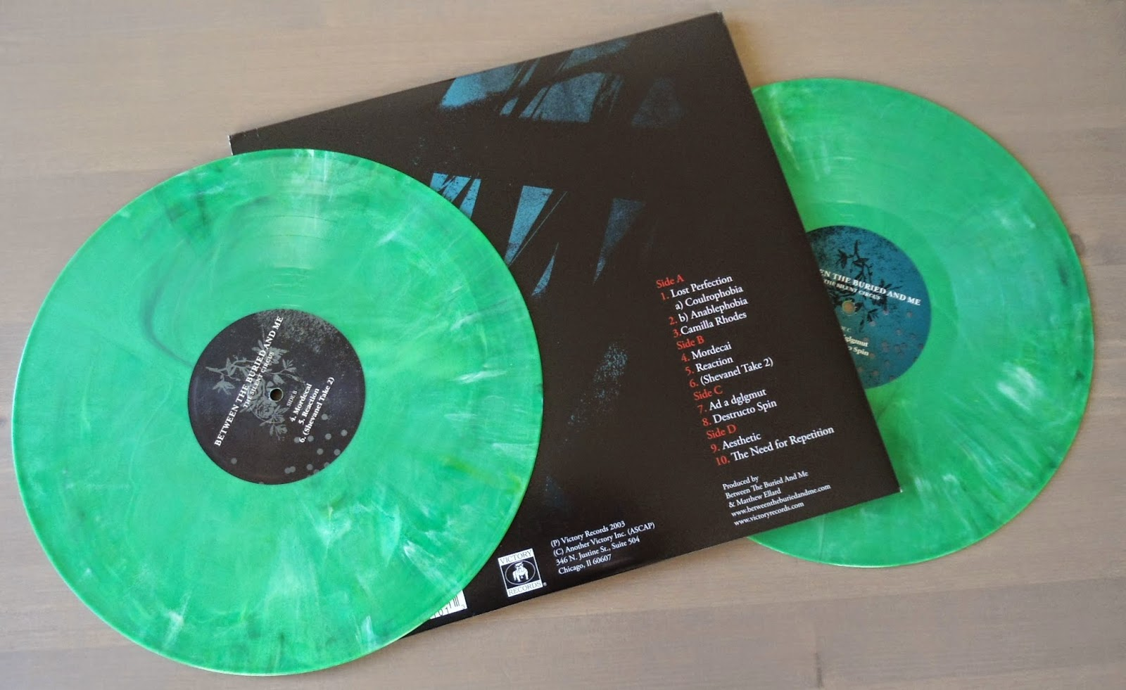 hardcore/metal vinyl: between the buried and me - the silent circus