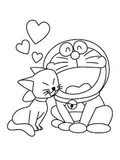 Sketsa Gambar Mewarnai Doraemon 201605