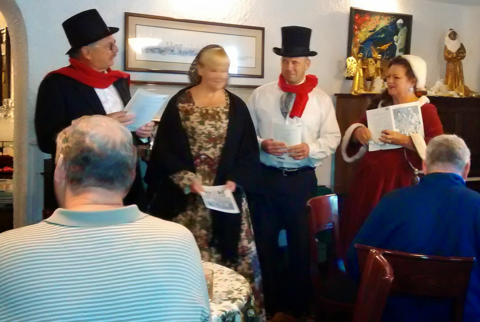 Holiday Singers ... Thanks to the Old Town Trolley (the GREEN AND ORANGE trolley) 20  OTT%2Bgreen%2Btrolly%2BHoliday%2BSingers St. Francis Inn St. Augustine Bed and Breakfast