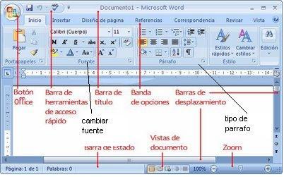 rafael barron: barra de herramientas word