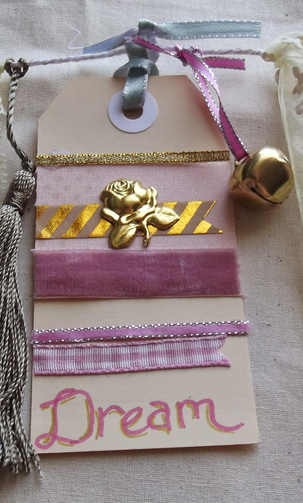 ribbon foil tape glitter tape dream handlettering rose charm
