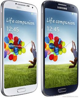 Samsung I9500 Galaxy S 4 putih dan hitam