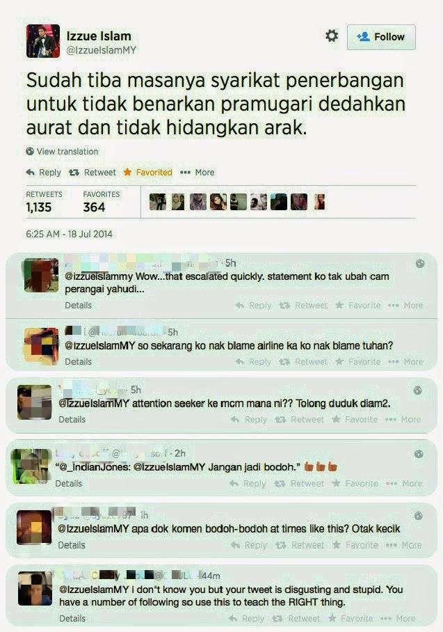 Izzue Islam Kecewa Akaun Twitter Palsunya Digunakan Untuk Kritik MH17
