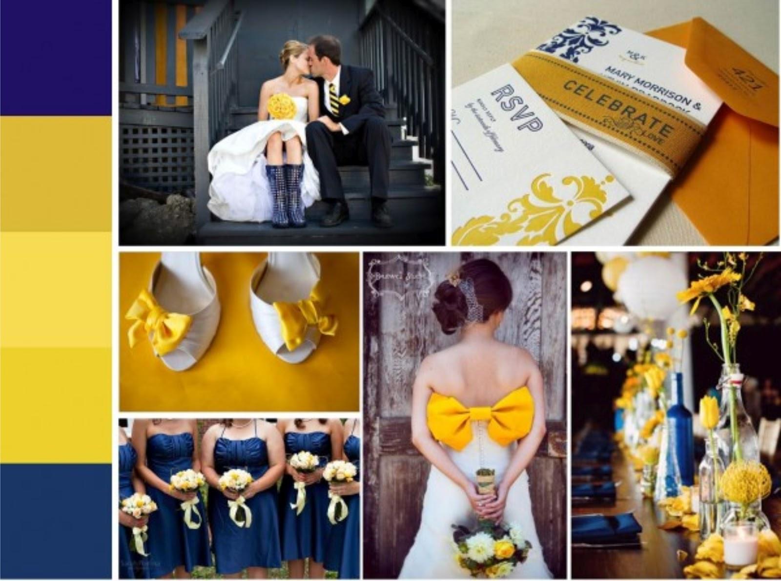 decoracao de casamento azul escuro e amarelo : decoracao de casamento azul escuro e amarelo:deCORação casamento – amarelo e combinações