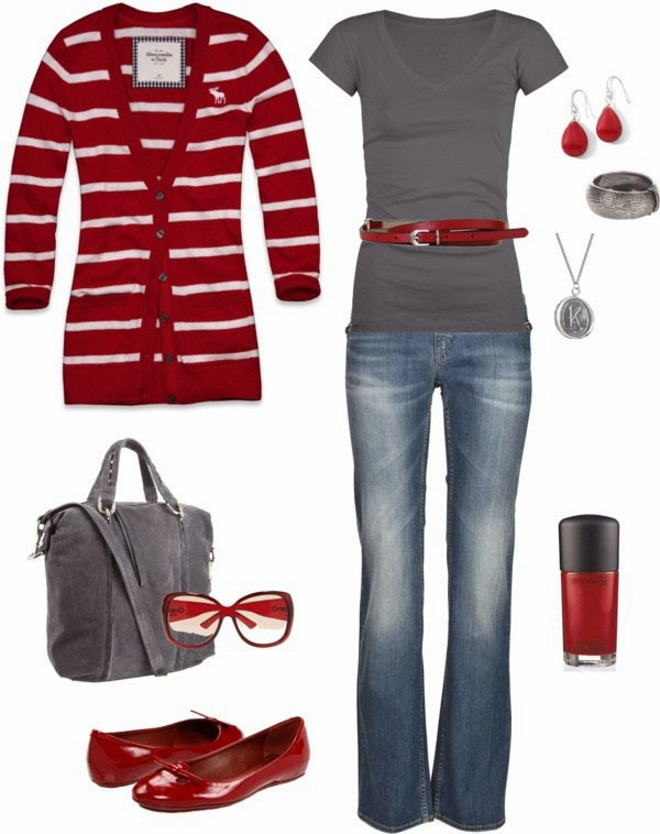 Casual valentine's day outfits with super cute cardigan