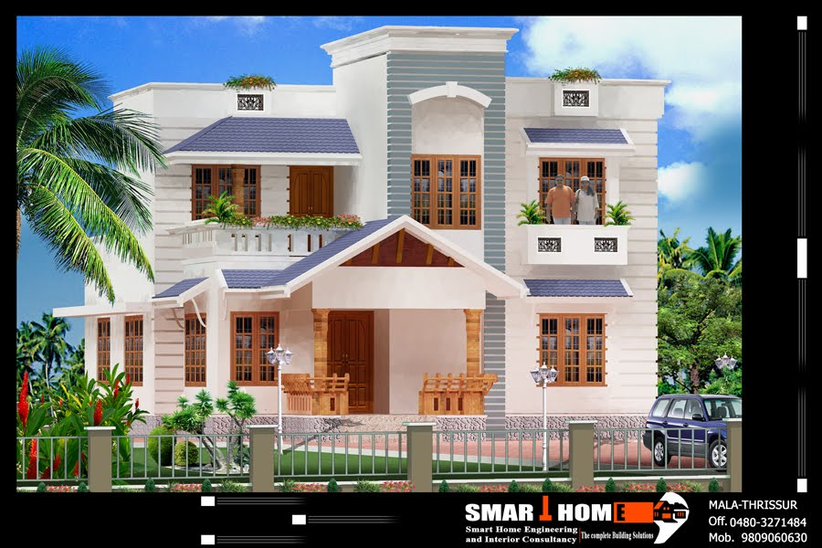 Beautiful Architecture Design For Small House In India Free Hindu